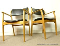 Danish Erik Buck oak chairs - Mid Century