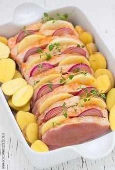 B Food, Good Food, Yummy Food, Pork Recipes, Cooking Recipes, Healthy Recipes, Menu, Pork Dishes, Quiches