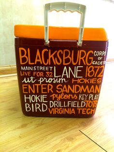 Cooler Painting, Frat Coolers, Virginia Tech, Tailgating, Fun Projects, Sorority, Ranch, College, Diy Crafts