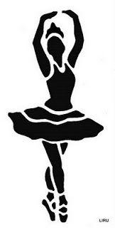 bailarina- stencil
