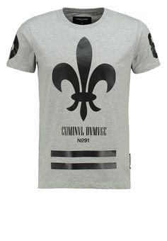 Criminal Damage FLEUR - Camiseta print - grey/black - Zalando.es