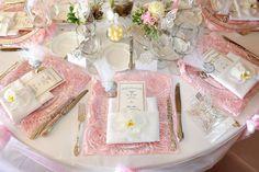 Blush Pink Rosette Placemat, Rosette placemat, Wedding reception placemat - New Site Blush Wedding Reception, Pink Wedding Receptions, Wedding Table, Wedding Decor, Wedding Rings, Wedding Ideas, Tutu Table, Lace Table, Rosette Tablecloth
