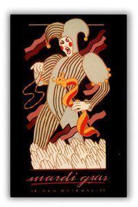 Mardi Gras Poster 1985