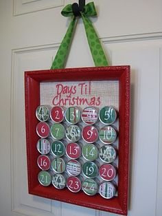 I love advent calendars . . . perhaps a little too much!  This one's simple and gorgeous.