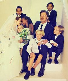 Brangelina's Wedding. What a beautiful family.