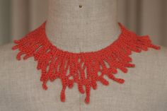 Unique Crochet Necklace - handmade