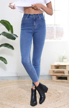Afends Zeppelins Vintage Blue Skinny Jeans  #BBFEST #beginningboutique
