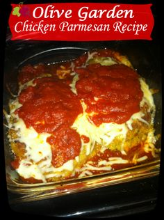 Olive Garden Chicken Parmesan Copy Cat Recipe! @Carla Costephens Plus World Market movie lovers recipe!