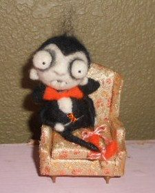 JUST Chillin  Ooak needle felted  Vampire art by papermoongallery, $79.00