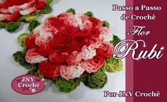 Passo a Passo Flor de Crochê Rubi por JNY Crochê