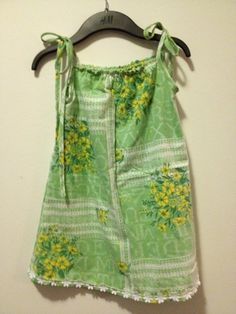 Green pillowcase dress