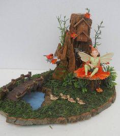 OOAK Natural Wood, Pond Fairy Display, Fantasy, Jan's Flowers and Frills on eBay.