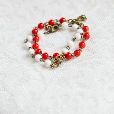 In Love // 2pcs. Bracelets made of brass and natural by OhKsushop