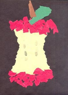 torn paper more torn paper fruit art maternel brico pomme arts crafts ...