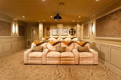 Home Theater Basement Design Ideas, Pictures, Remodel and Decor