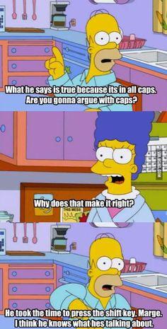 Homer on the internet