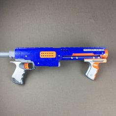 Nerf Raider CS-35 N-Strike Dart Gun Blaster Blue Orange Pump Action - Body Only #NERF