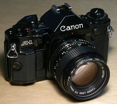 Canon A1. Collectors item because this was the first photocamera with automatic diaphragm & shutter time.