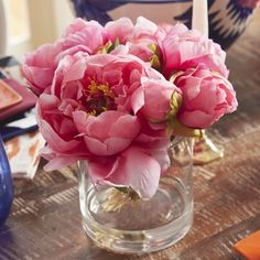 T&C Floral Company Fresh Cut Peony Floral Arrangements in Jar Peonies And Hydrangeas, Hydrangea Not Blooming, Peonies Bouquet, Pink Peonies, Peonies Garden, Rose Bouquet, Gift Bouquet, Flowers Garden, Tulips