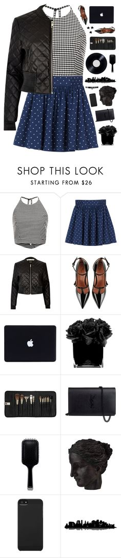 """""""Pattern mixing"""" by genesis129 ❤ liked on Polyvore featuring Sachin + Babi, Monki, River Island, RED Valentino, Hervé Gambs, Sephora Collection, Yves Saint Laurent, GHD, Ren-Wil and Incase"""