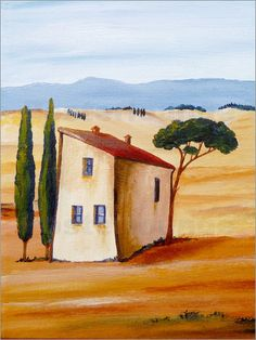 Christine Huwer - Tuscany modern Source by tanichec Watercolor Architecture, Watercolor Landscape, Landscape Art, Landscape Paintings, Watercolor Paintings, Landscape Architecture, Boat Painting, House Painting, Naive Art