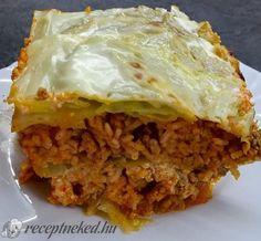 Duplán tejfölös rakott kel Lasagna, Food And Drink, Ethnic Recipes, Lasagne
