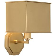 Pythagoras Matte Brass Plug-In Wall Sconce
