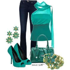"""""""Teal"""" by amo-iste on Polyvore"""