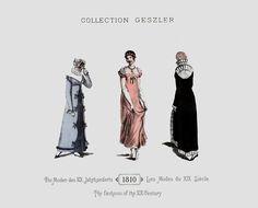 1810 - Collection Geszler ; Die Moden des XIX. Jahrhunderts / Les Modes du XIX. Siècle / The fashions of the XIX. Century