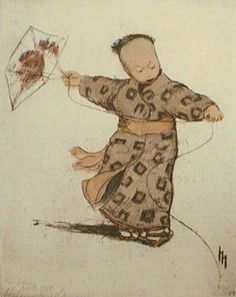 petitpoulailler:  indigodreams: Helen Hyde (1868-1919) ~ In Kite Time