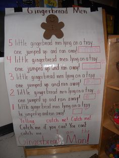 The Daily Cupcake....gingerbread man math