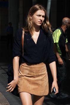 Kiwi & Mint: Suede Mini Skirt Style