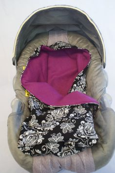 Black/White floral flannel print Car Seat Swaddle by DesignsbyRomy, $35.00