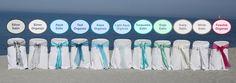 beach wedding florida weddings sash colors