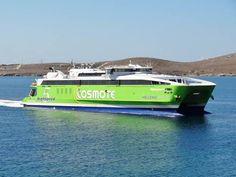 Hellenic Sea Ways catamaran Highspeed 5 in green - chosen by  www.oiamansion.com