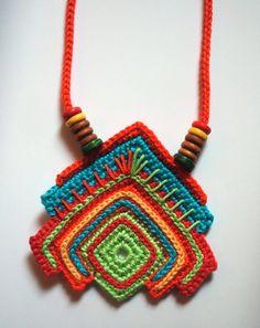 Collar de ganchillo para el verano - Crochet necklace