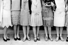 A group of high school flapper girls pose for a formal portrait, ca. 1925 --- Image by © DaZo Vintage Stock Photos/Images.com/Corbis