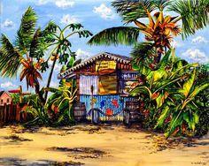 Heritage Kitchen -Susan Widmer Cayman Islands artist
