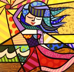 Romero Britto Canvas Art Summer 20 x 20 Pintura Graffiti, Graffiti Painting, Graffiti Art, Pop Art, Arte Pop, Tableau Design, Arte Country, Art Plastique, Famous Artists