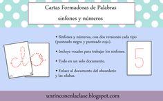 FREE Creamos palabras: sinfones y números from Un Rincón en la Clase on TeachersNotebook.com -  (13 pages)  - Tarjetas o cartas que permiten crear palabras