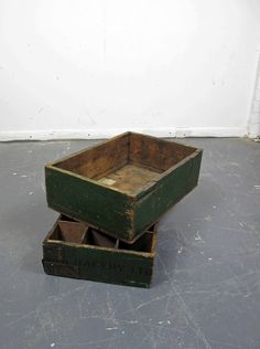 Crate Vintage Antiqued Wooden Box Trug Strand Post Office Sorting Box