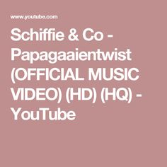 Schiffie & Co - Papagaaientwist (OFFICIAL MUSIC VIDEO) (HD) (HQ) - YouTube