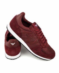 Zapatillas hombre Armani - Rojo Burdeos | Envio Gratis