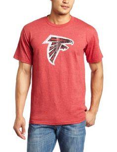 NFL Men's Atlanta Falcons Vintage Logo III Short Sleeve Basic Tee (Red, Large) by Majestic. $19.99