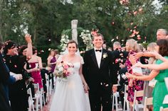 rose petal ceremony toss | Magnolia Pair #wedding