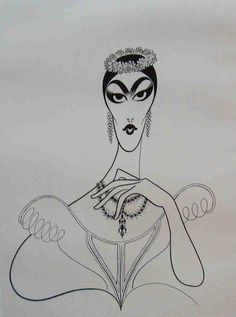 Maria Callas by Al Hirschfeld Classical Opera, Classical Music, Maria Callas, Celebrity Caricatures, Black And White Portraits, Almost Always, Cartoon Art, Line Art, Drawings