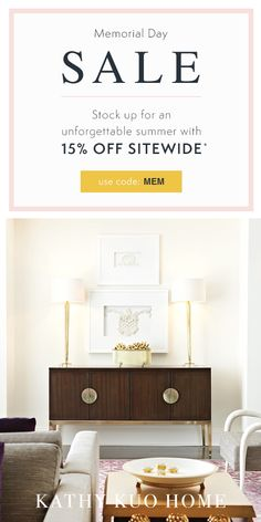 *15% OFF Sitewide with code MEM now through May 18th. Not valid on select sale items, gift cards or previous purchases. Exclusions apply.