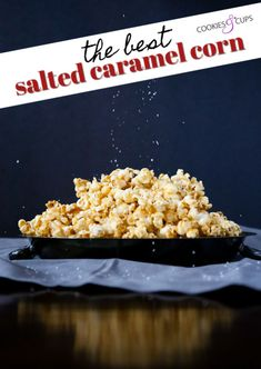 This is BY FAR the best Salted Caramel Corn Recipe EVER. It's one of my oldest and most popular recipes that is FOOL PROOF. It's crispy, sweet, with the perfect salty balance. Caramel Corn Recipes, Popcorn Recipes, Candy Recipes, Sweet Recipes, Snack Recipes, Dessert Recipes, Gourmet Popcorn, Baking Recipes, Salted Caramel Popcorn