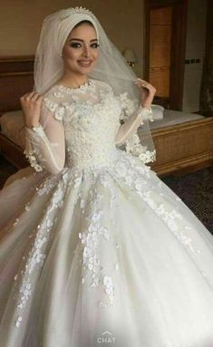 68 Ideas wedding veils hijab muslim brides 68 Ideas wedding veils hijab muslim brides Check more at wedding. Arabic Wedding Dresses, Muslim Wedding Dresses, Muslim Brides, Best Wedding Dresses, Bridal Dresses, Wedding Gowns, Hijabi Wedding, Muslimah Wedding Dress, Wedding Bride