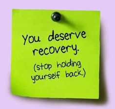 You deserve recovery (stop holding yourself back). #anorexia #recovery #eatingdisorders